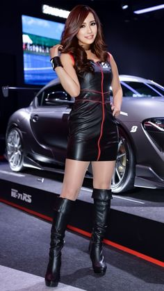 Kpop Fashion Outfits, Sexy Outfits, Blake Lovely, Promotional Model, Grid Girls, Beautiful Asian Women, Sexy Asian Girls, Asian Fashion, Leather Fashion