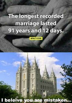 for all those who dont know us LDS people commonly known as mormons believe in marriage that last for eternity, that lasts beyond death Funny Mormon Memes, Lds Memes, Lds Quotes, Inspirational Quotes, Church Memes, Church Humor, Church Quotes, Saints Memes, Later Day Saints