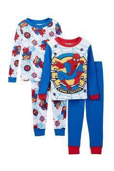 Spider-Man Crime Fighter Cotton PJs - Set of 2 (Toddler Boys) Spiderman d8dd3ff54