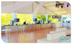 Classic wedding party tents with decorations for wedding planning