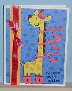 Cricut Winter Card. Create a Critter, Winter Frolic and Paisley Cartridges.  *