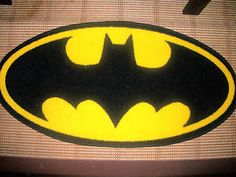 Exceptional New Release Shape Logo Batman Childrens Rug Mat Wow