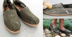 Puedes hacer este proyecto con zapatos de lona o tela, y hacer la prueba de usarlos bajo la lluvia. Para impermeabilizar tu calzado necesitarás:  - Cera de abeja - Secador de pelo - Zapatos o...