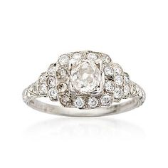 The most incredible ring I have ever seen...1930s art deco estate ring.  Wow..