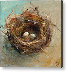 Two Egg Nest Art Print by Cari Humphry. All prints are professionally printed, packaged, and shipped within 3 - 4 business days. Choose from multiple sizes and hundreds of frame and mat options. Painting Prints, Painting Trees, Watercolor Painting, Ballet Painting, Bird Paintings, Art Print, Spring Painting, Print Paper, Cross Paintings