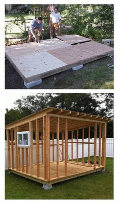 Shed Plans - RyanShedPlans - 12000 Shed Plans with Woodworking Designs - Shed Blueprints Garden Outdoor Sheds RyanShedPlans - Now You Can Build ANY Shed In A Weekend Even If You've Zero Woodworking Experience! Backyard Sheds, Outdoor Sheds, Backyard Office, Backyard Studio, Outdoor Storage Sheds, Backyard Plants, Shed Blueprints, Firewood Shed, Simple Shed