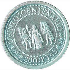 200 Pesetas 1991 Vº Centenario. Plata.