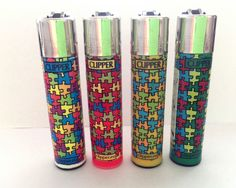 4 x CLIPPER LIGHTERS JIGSAW PUZZLE PIECE Design LIGHTER *GENUINE PRODUCT*