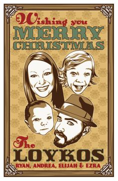 Gig Family Christmas cards by Rattle-n-Roll.