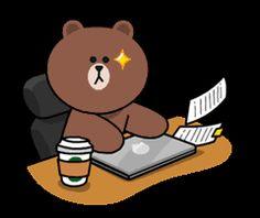 Cute Couple Cartoon, Cute Love Cartoons, Cony Brown, Brown Bear, Cute Bear Drawings, Bear Gif, Gif Mania, Teddy Bear Cartoon, Cute Love Gif