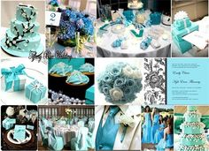 Light Blue Wedding Theme- my favorite color, only problem is I'd rather skip the wedding stuff and just get married