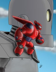 Baymax and the Iron Giant off to the rescue by morie57 @ Deviantart This is wonderful