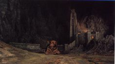 Behind the Scenes  A dog guarding the Helm's Deep set, used in Lord of the Rings - The Two Towers Helms Deep, New Line Cinema, Words With Friends, The Two Towers, Linnet, Lord Of The Rings, Middle Earth, Tolkien, The Guardian
