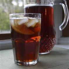 "Smooth Sweet Tea Allrecipes.com  Made this at Thanksgiving and it was PERFECT!  This little secret ingredient had everyone saying it tasted like Chicken Express Tea!  2 gallons were gone like ""that!"""