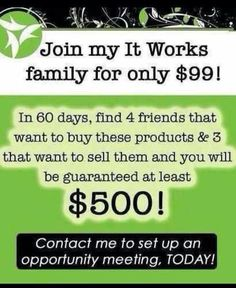 How awesome of a guarantee is that?!?! I will personally teach you all about this crazy skinny wrap business! It Works! is all about Friendship, Fun, & Freedom!! Message me to learn more about how YOU can achieve all of that and more with a first to market product and less than 60,000 distributors worldwide!