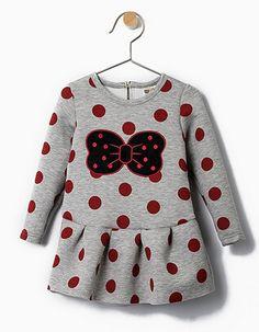 Bébé filles robe mode Penguin motif Polka dot automne hiver fille robe bébé filles robe à manches longues filles vêtements(China (Mainland))
