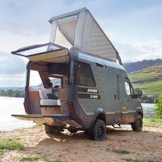 Mercedes Sprinter Camper Van, 4x4 Camper Van, Build A Camper Van, Off Road Camper, Sprinter Van, Truck Camper, Pop Top Camper, Camper Tops, Small Camper Vans