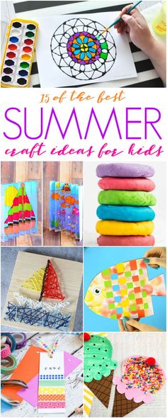 Summer Craft Ideas for Kids, Summer Projects for Kits, and Activities for Kids to keep them creating fun projects all Summer long! Summer Crafts For Kids, Summer Kids, Diy Crafts For Kids, Fun Crafts, Summer 2016, Wood Projects For Kids, Fun Projects, Easy Diy Crafts, Diy Crafts Videos