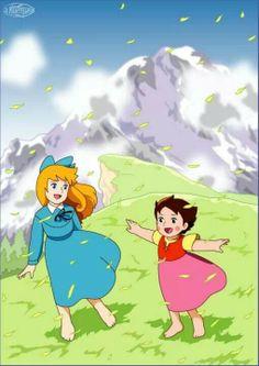 Heidi y clara las mejores a migas Bible Cartoon, Cartoon Tv, Serie Heidi, Heidi Cartoon, Manga Anime, Anime Prince, Vintage Cartoons, Retro, Alps