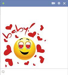 Emoticon with hearts