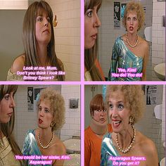 """When she complimented Kim. 29 Times Kath From """"Kath And Kim"""" Was Fucking Hilarious Funny Laugh, Hilarious, Funny Shit, Funny Stuff, Kim Tv, Superhero Classroom, Asparagus Spears, 30th Party, Just For Laughs"""