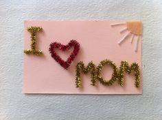 Use those bendable craft sticks to make this cute Mother& Day card for Mom.Here is an easy tutorial. Fathers Day Art, Diy Mothers Day Gifts, Craft Stick Crafts, Diy Crafts, Craft Sticks, Craft Ideas, Mother's Day Diy, Color Changing Led, Paper Roses