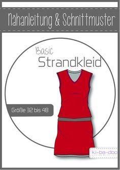 Basic Strandkleid Damen - DIN A 0 Schnittmuster und Anleitung als Broschüre