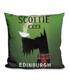 Ryan Fowler 'Scottie Café' Throw Pillow on Nanny Dog, Dog Cushions, Ad Design, Interior Design, Fashion Room, Westies, Dog Pictures, Color Pop, Vintage Inspired