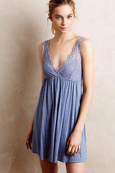 Only Hearts Indigo Chemise Blue S Intimates Sleepwear & Loungewear, Lingerie Sleepwear, Nightwear, Pull Gris, Jolie Lingerie, Pretty Lingerie, Indigo, Zara, Vestidos