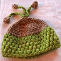 3 Little Acorns Hat  Available from Newborn to 4 by AnnabelleKnits, $22.00