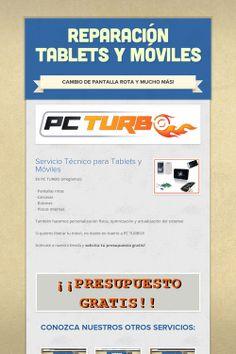 En PC TURBO hacemos todo tipo de reparación de tablets y móviles! Si tu dispositivo presenta algún fallo, traelo a nuestra tienda y te lo arreglamos seguro!