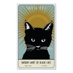 Saint Inky I and II ~ Watching over all black cats.  Follow The Cult of Otis
