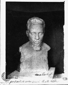 Clara Westhoff - 1878-1954 - portrait buste of her husband Rainer Maria Rilke 1875-1926