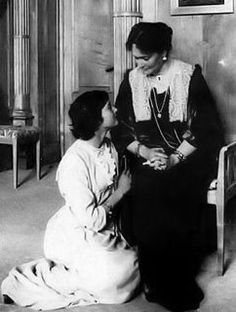 This is a very sweet picture of Grand Duchess Tatiana and her Mother Empress Alexandra.