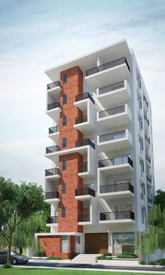 Proyecto 2040 Residential Building Plan, Building Facade, Building Design, Condo Design, House Front Design, Facade Architecture, Residential Architecture, Facade Design, Exterior Design