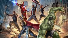 Thor, Hulk (Bruce Banner), la Viuda Negra (Natasha Romanoff), el Capitán America (Steve Rogers), Iron Man (Tony Stark), Ojo de Halcon- Chris Hemsworth, Mark Ruffalo, Scarlett Johansson, Chris Evans, Robert Downey Jr y Jeremy Renner