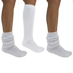 Luxury Divas All Cotton 3 Pack Extra Heavy Slouch Socks * Details can be found by clicking on the image. Slouch Socks, Boot Socks, Ankle Socks, Fishnet Socks, Women's Socks & Hosiery, Long White Socks, Thick Socks, Adidas Basketball Shoes, Basketball Games