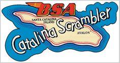 BSA Catalina Scrambler Tank Logo...