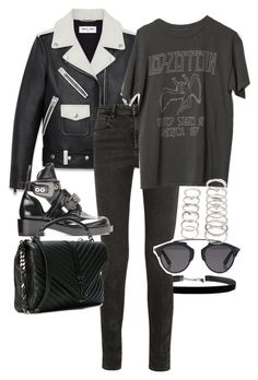 """Untitled #11207"" by minimalmanhattan on Polyvore featuring Alexander Wang, Yves Saint Laurent, Christian Dior and Forever 21"