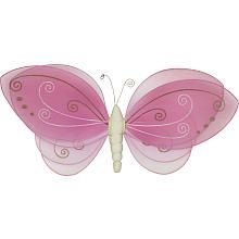 "Babies R Us By Design Large Mesh Wall Decor - Pink Butterfly - Babies R Us - Toys ""R"" Us"