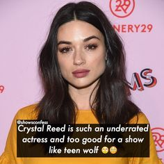 "3,075 Likes, 206 Comments - Tvshowconfess (@showsconfess) on Instagram: ""[Crystal Reed] ❤️ Don't really agree but I would like to see her in more things. Agree/disagree?…"""