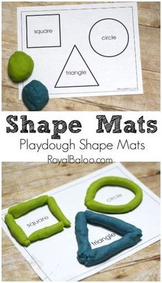 Learn shapes and fine motor skills with playdough – Royal Baloo Learn shapes and fine motor skills with playdough – Royal Baloo,STEM Projects and Crafts Free Printable Shapes Mats for playing with playdough Related. Toddler Learning Activities, Kindergarten Activities, Classroom Activities, Kids Learning, Playdough Activities, Preschool Shape Activities, Shapes For Kindergarten, Activities For 5 Year Olds, Preschool Prep