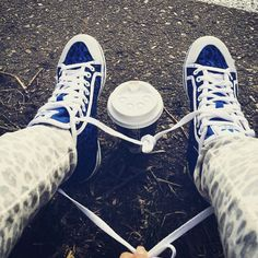 #shoes #blueshoes ♡