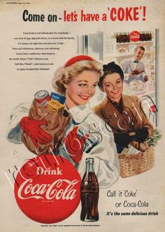 "1954 Vintage Coca Cola Shopping Spree - Have a ""Coke"" when you need a""break""."