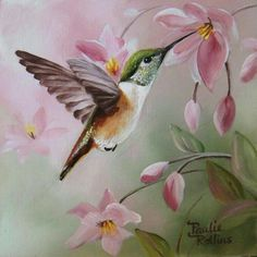 Realistic Oil Painting Of Birds Realistic Oil Painting, Painting & Drawing, Watercolor Bird, Watercolor Paintings, Hummingbird Painting, Bird Drawings, Bird Pictures, Wildlife Art, Beautiful Birds