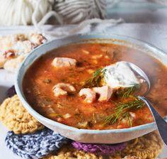 Nopea kalaseljanka | Arjen nopeat, Keitot | Soppa365 Feta, Sandwiches, Chana Masala, Food To Make, Curry, Soup, Dinner, Cooking, Ethnic Recipes