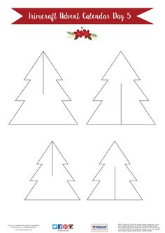 Trimcraft Advent Calendar Day 5- Free Printable Tree Decoration Template
