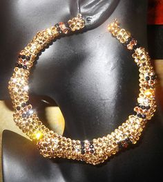 """$59.99 WOW!! 4"""" Bamboo Hoops  Many crystal colors and custom orders!!"""