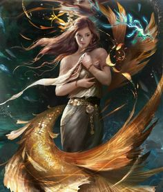 Haunted Labradorite Stone Stainless Steel Pendant, Very Rare High Level Female Mermaid Sorceress Djinn by AuroraCelestial on Etsy