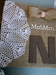 Absolutely love this! This is the album created for Justin and I as a wedding gift! I can't wait to fill it!! Burlap Covered Photo Album (DECORATIONS NOT INCLUDED-burlap only) on Etsy, $25.00